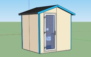 Campingplatz mit eigenen sanitären Einrichtungen