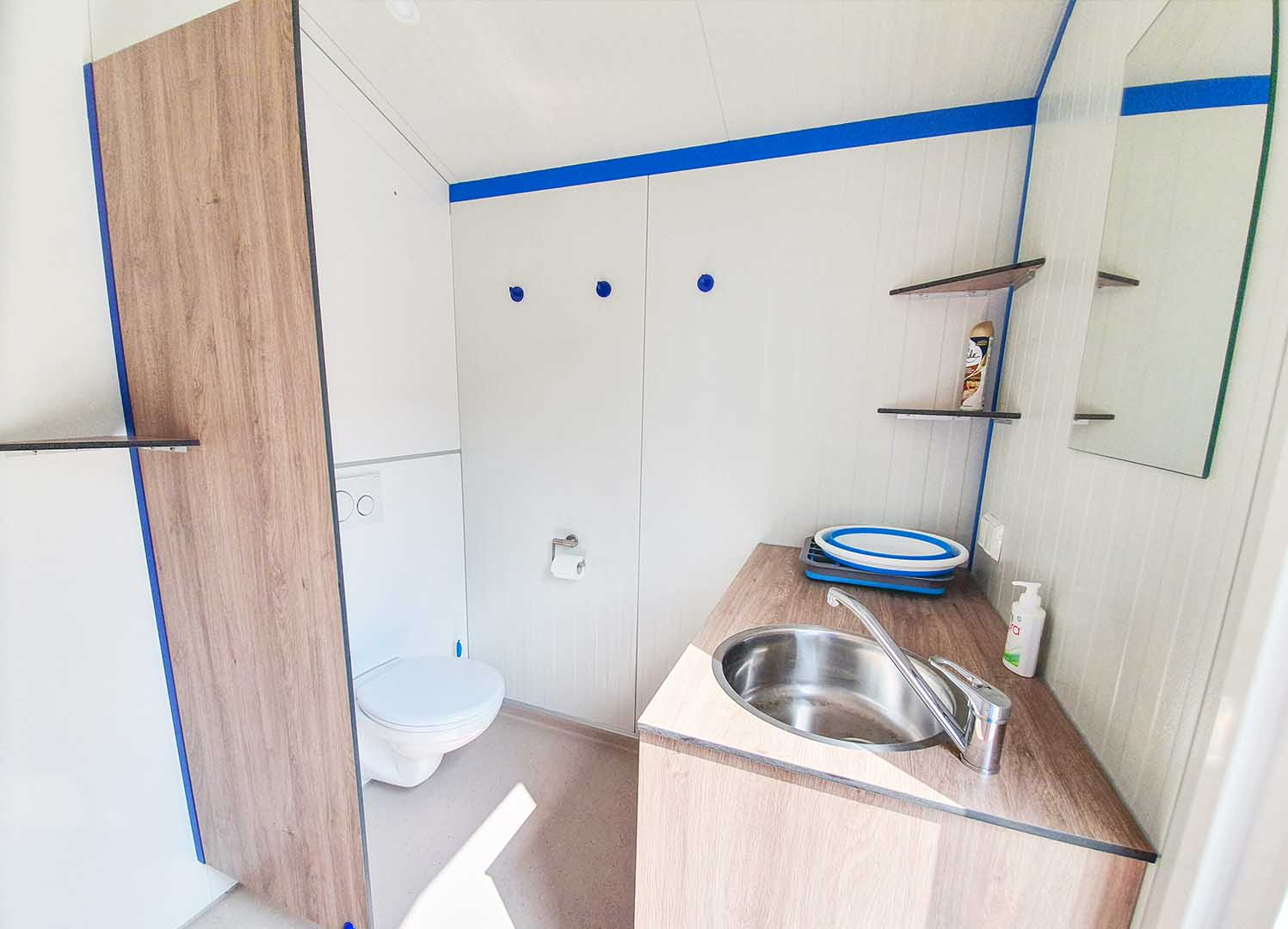 camping met eigen sanitair